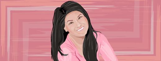 Digital painting of Linette.