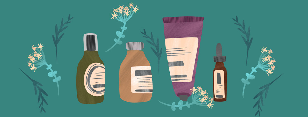 A lineup of lotions and topicals to treat skin conditions