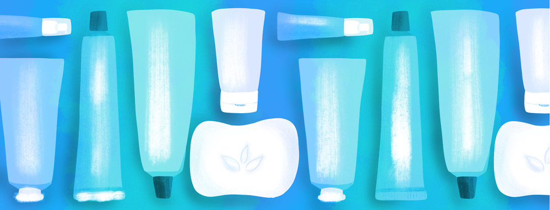 A pattern of skin care products