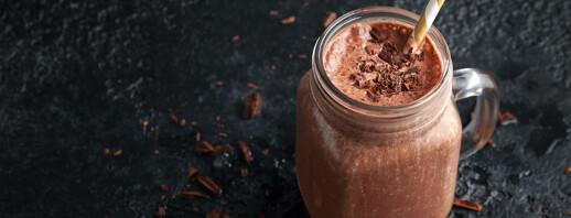 Oat, Chocolate & Avocado Smoothie image