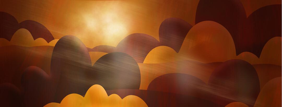 "A ""land"" of eczema with a mystical nebulus cloud representing a magic force."